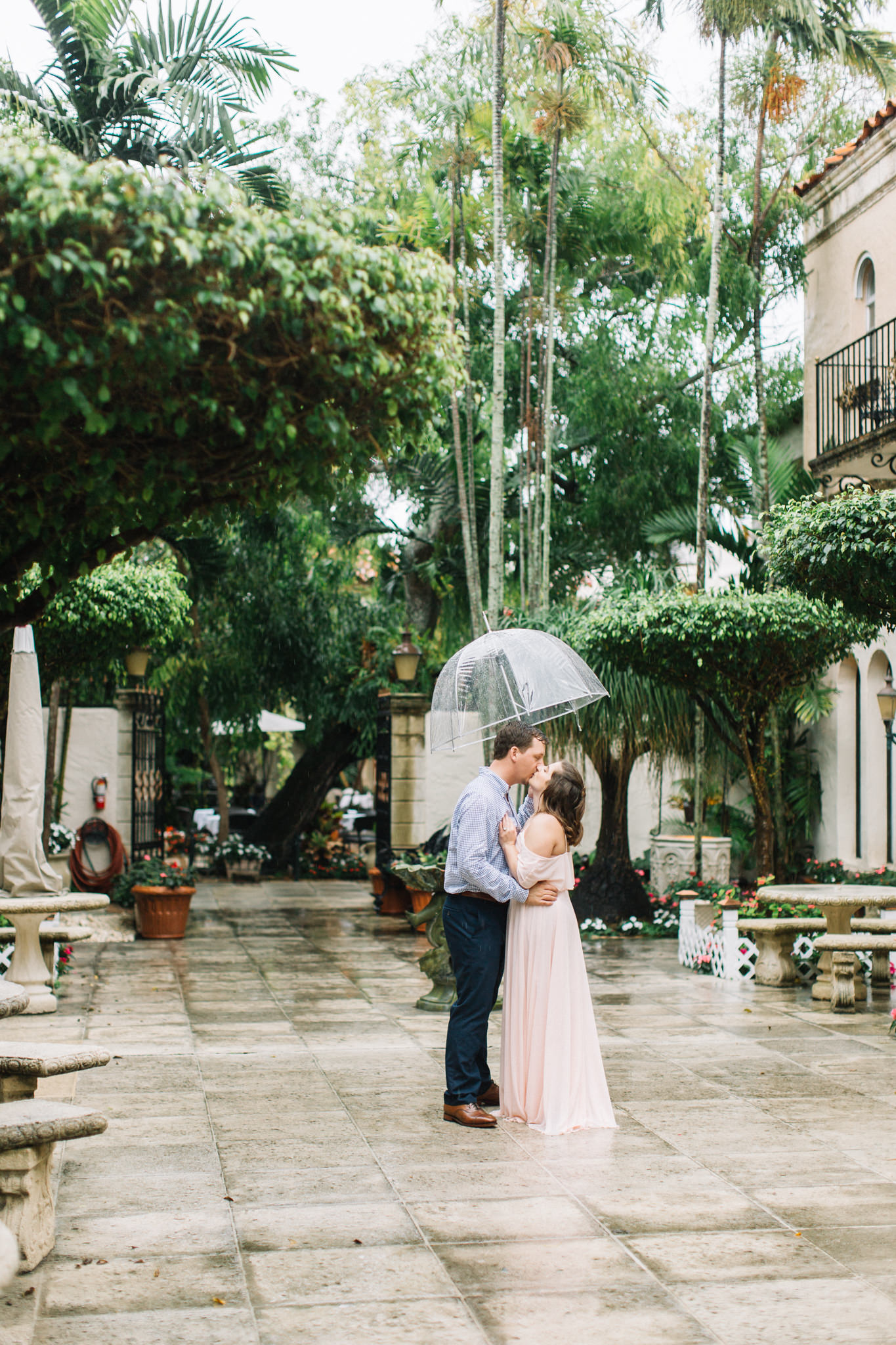 rain engagement session