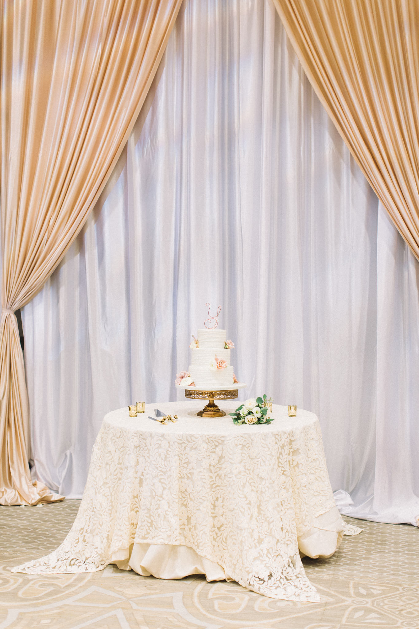 timeless spring time white with floral wedding cake