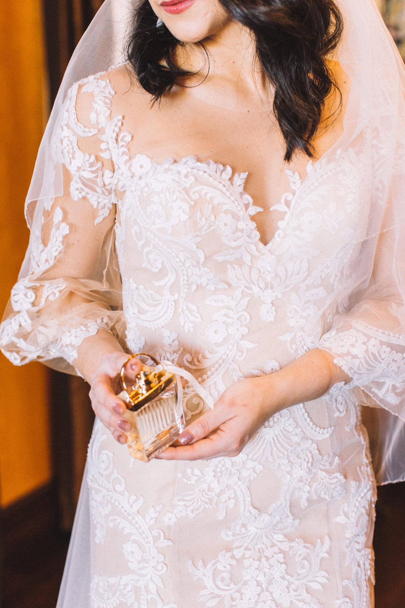 bridal portraits with details