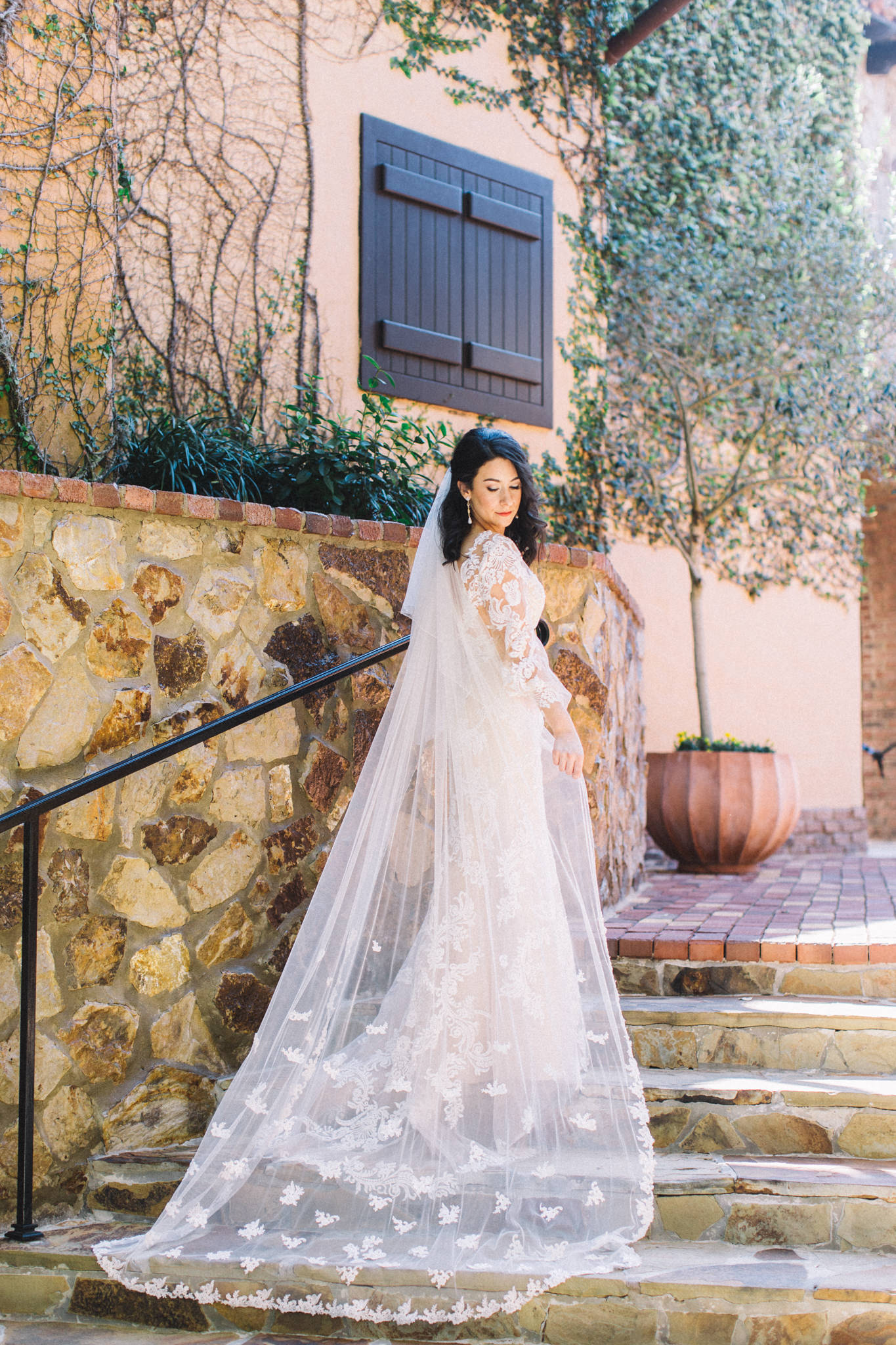 professional bride self portrait in wedding dress